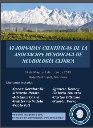 VI Jornadas Cientificas de la Asoc. Mendocina de Neurología Clínica.